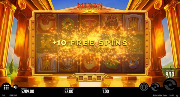 Midas Golden Touch slot game Free spins