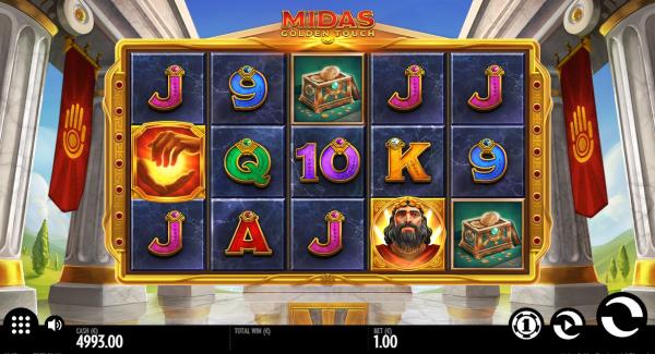Midas Golden Touch slot game Gameplay