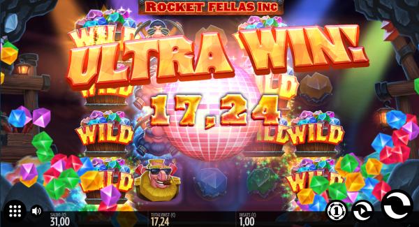 Rocket Fellas Inc slot game Ultra win
