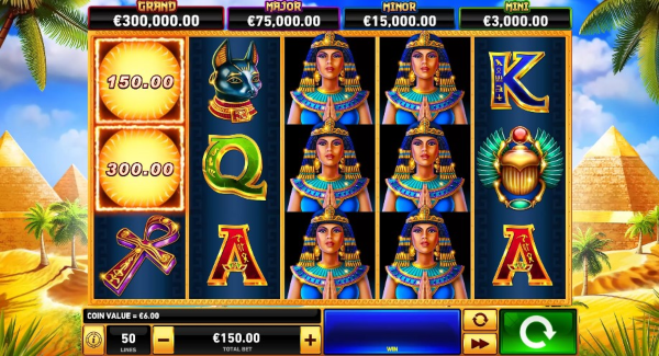 Scarab Queen slot game Gameplay