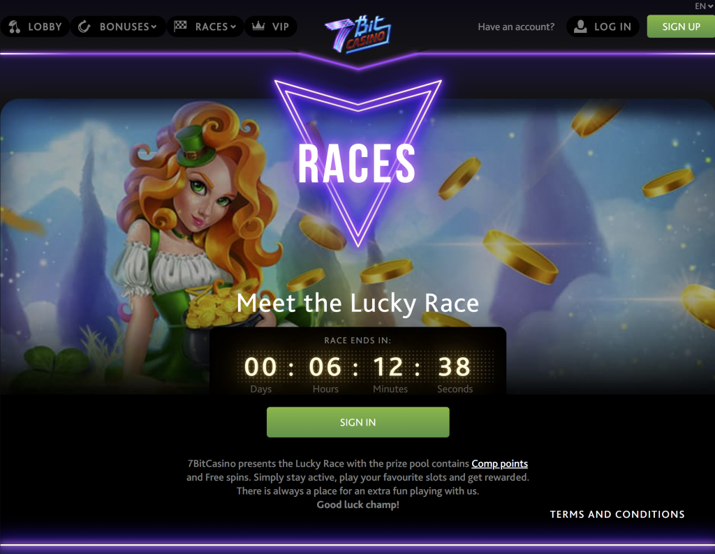 7bitcasino bonus code - the lucky race