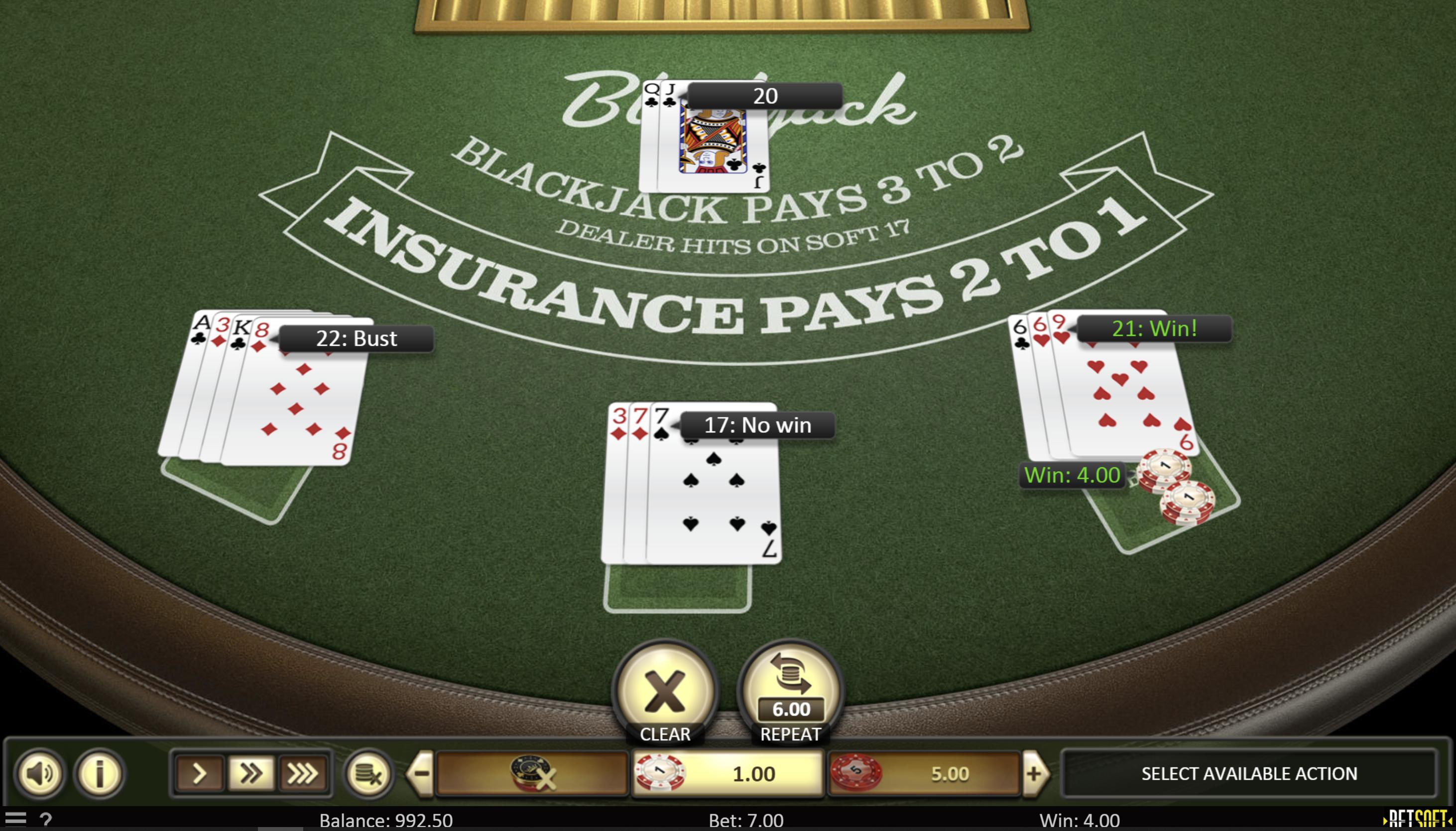 Blackjack Online Casinos