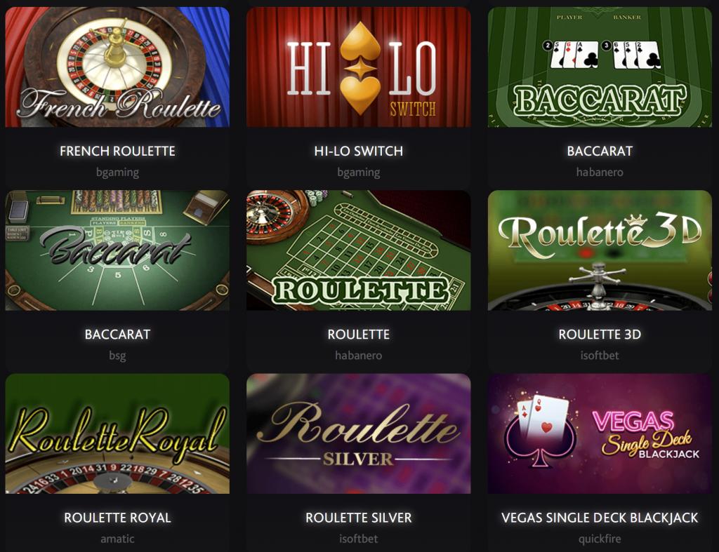 bitcoin crypto casino games - blackjack, roulette, hi-lo, baccarat