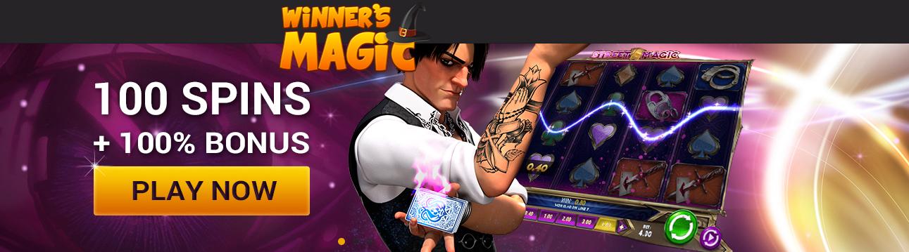 winners magic bonus codes welcome bonus