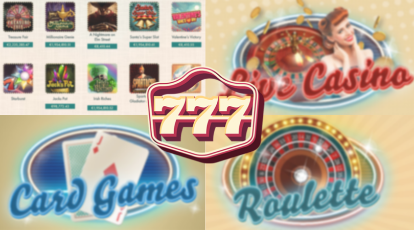 777 games - roulette live casino card games slots