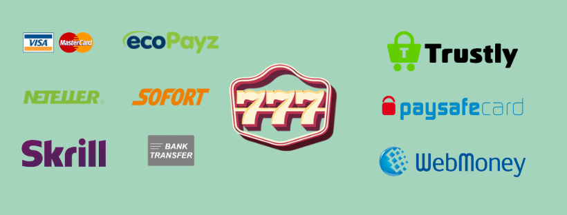 777 online casino reviews - payment methods visa skrill neteller