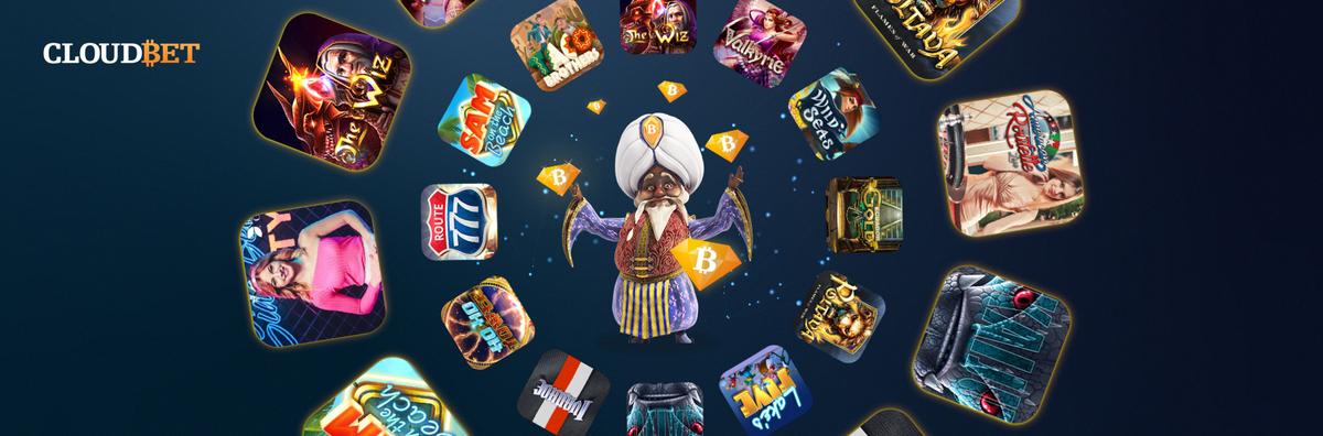 cloudbet casino games - slots - magic - diamonds - bitcoin