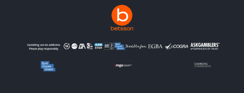 betsson security methods gambling commision ecogra