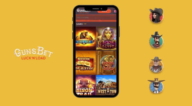 gunsbet app - mobile version iphone webapp