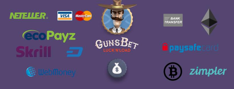 gunsbet withdrawal - payment options skrill neteller bitcoin