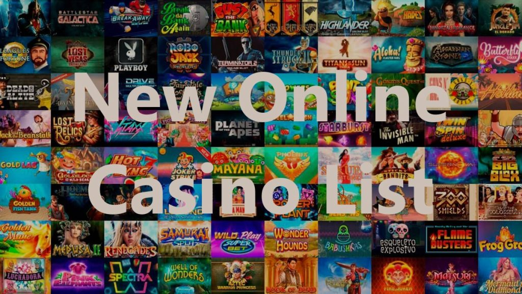 text - New Online Casino List - games, slots