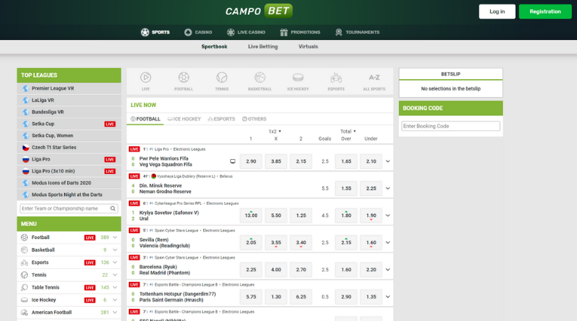 campobet sports - sports betting front page