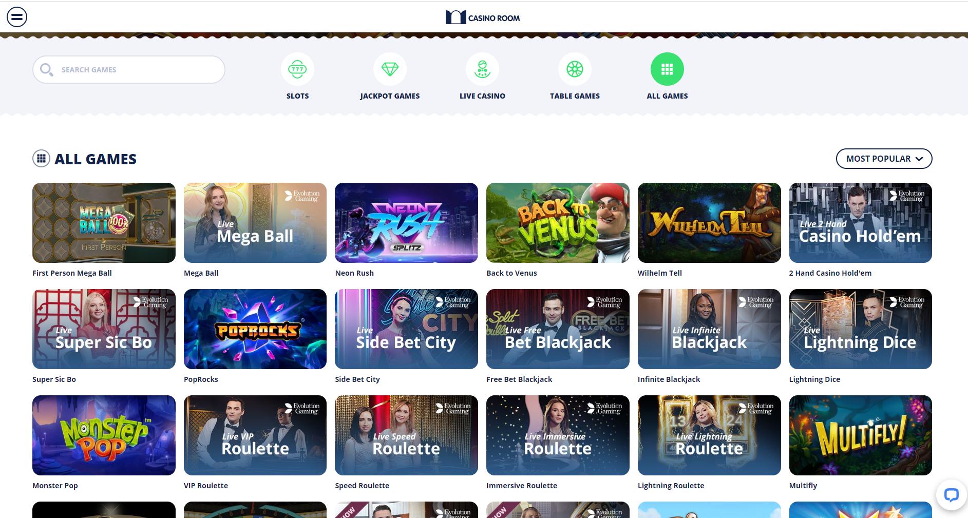 casino room games - casino room slots - neon rush multifly - lightning dice