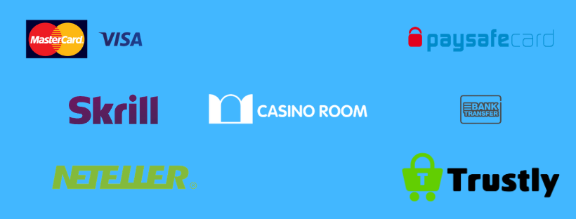 casinoroom payment methods - mastercard skrill trustly paysafe card