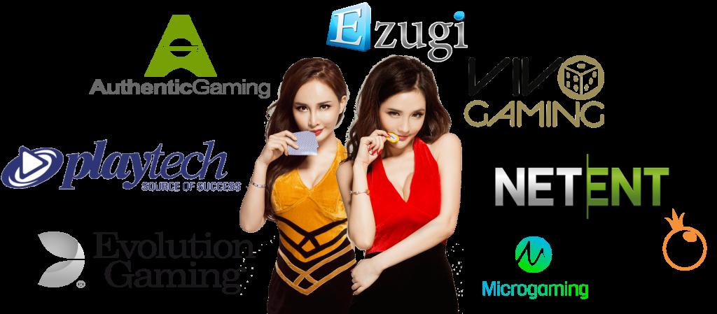 ezugi, playtech, microgaming live casino - netent, pragmatic play, authentic, evolution gaming live casino