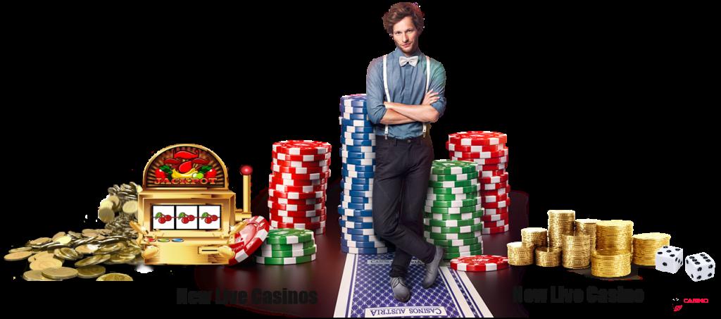 new live casinos - casino dealer, poker chips, money