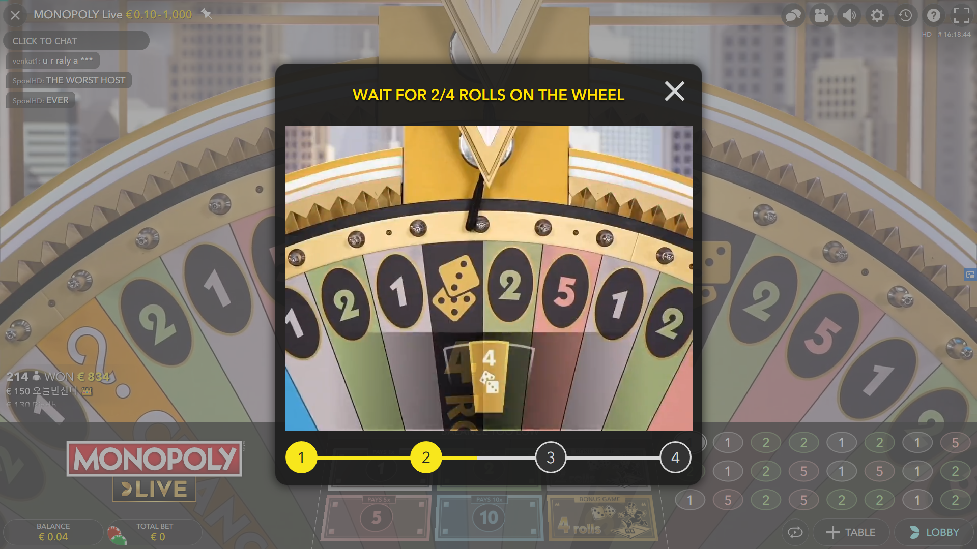 play monopoly live online - introduction screen money wheel - play monopoly live casino - monopoly live spin