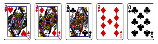 how to play video poker-three-of-a-kind