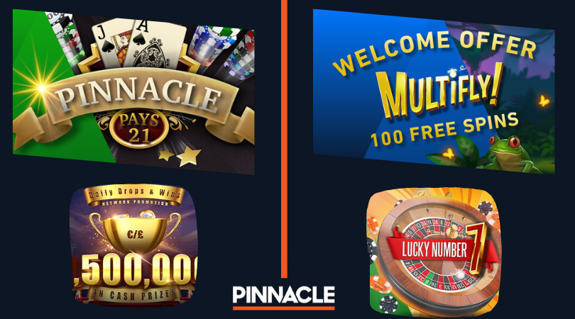 pinnacle casino bonus code - pinnacle pays 21 daily drops and wins lucky number 7 welcome offer multifly free spins