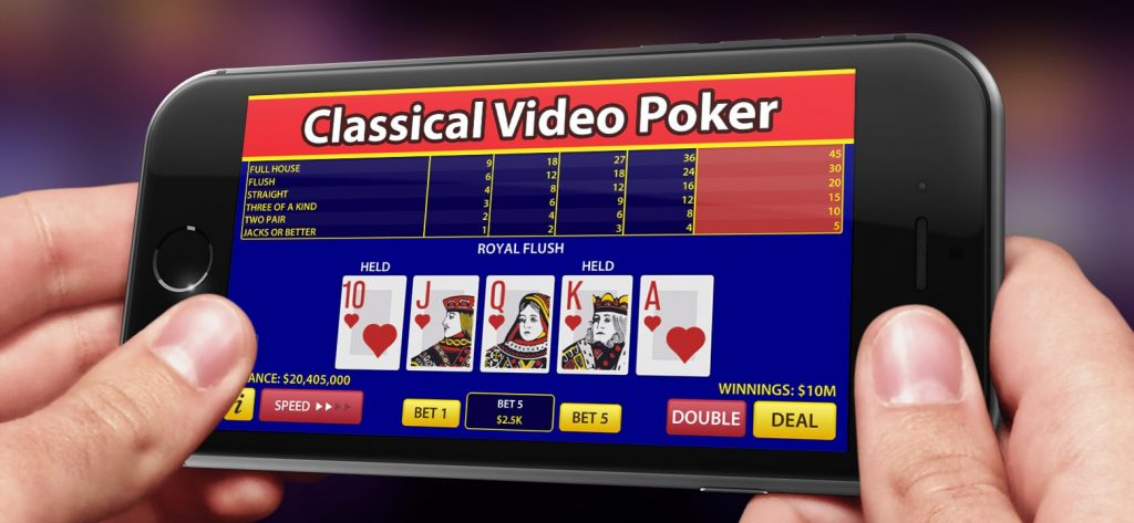 video poker classic on mobile phone
