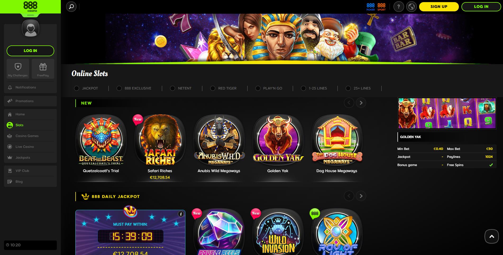 Casino 888 Mode Demo
