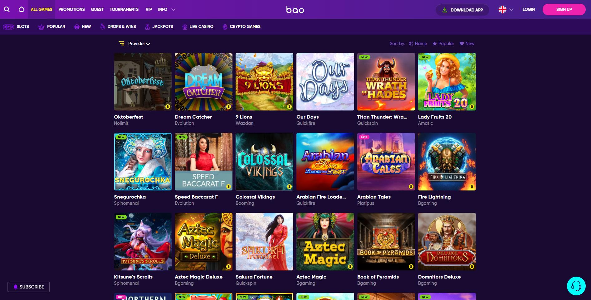 BAO Casino Bonus Codes 2021