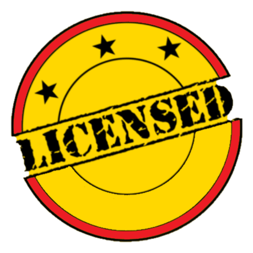 casino gambling license logo licensed three stars