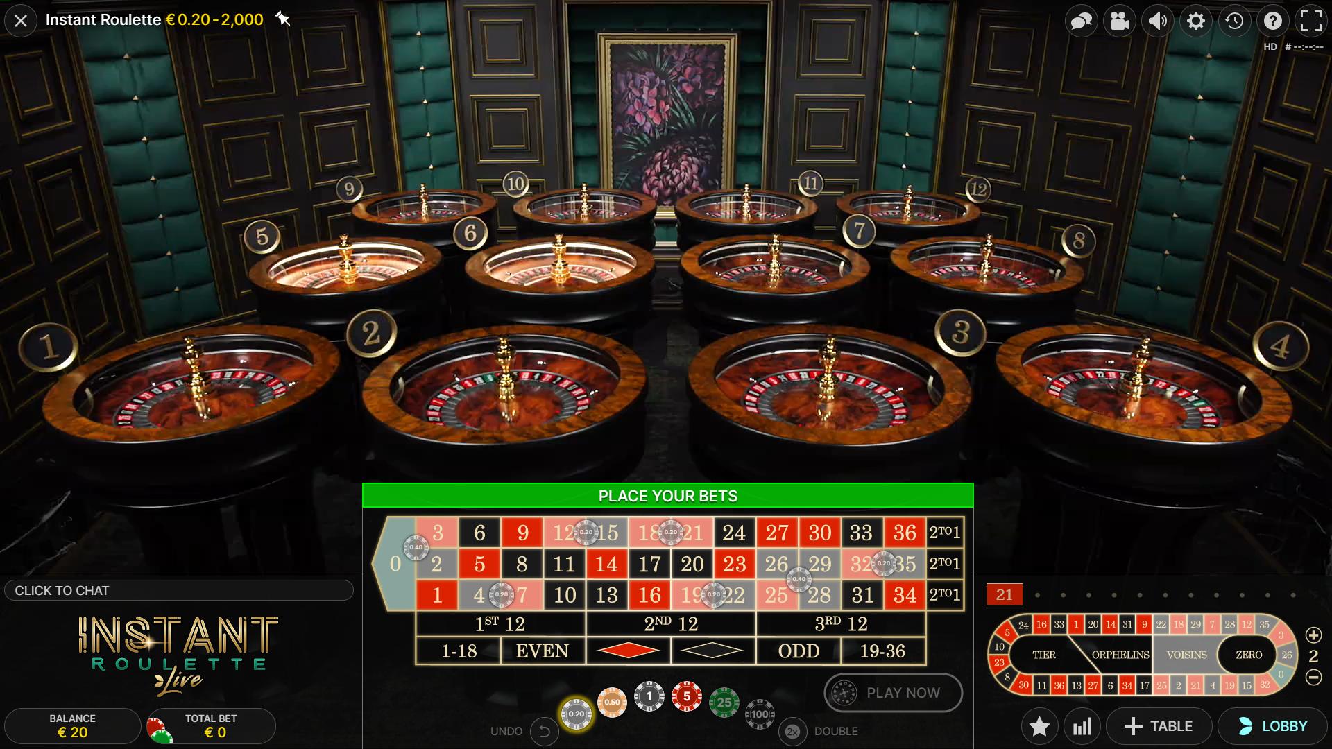 sistem taruhan roulette instan membagi voisins bahkan ganjil