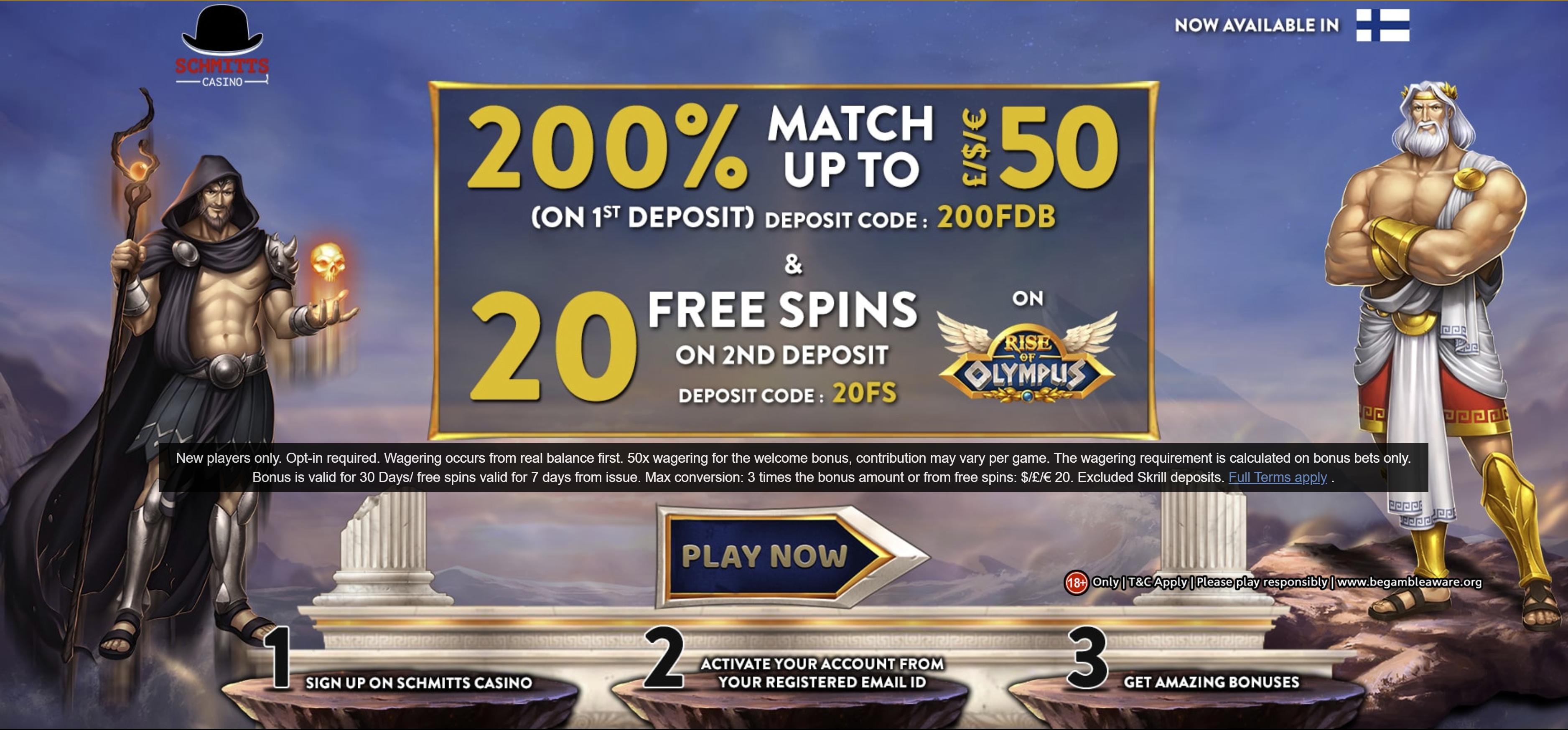 200 Bonus Casinos 2021 Exclusive Deposit Bonus 200
