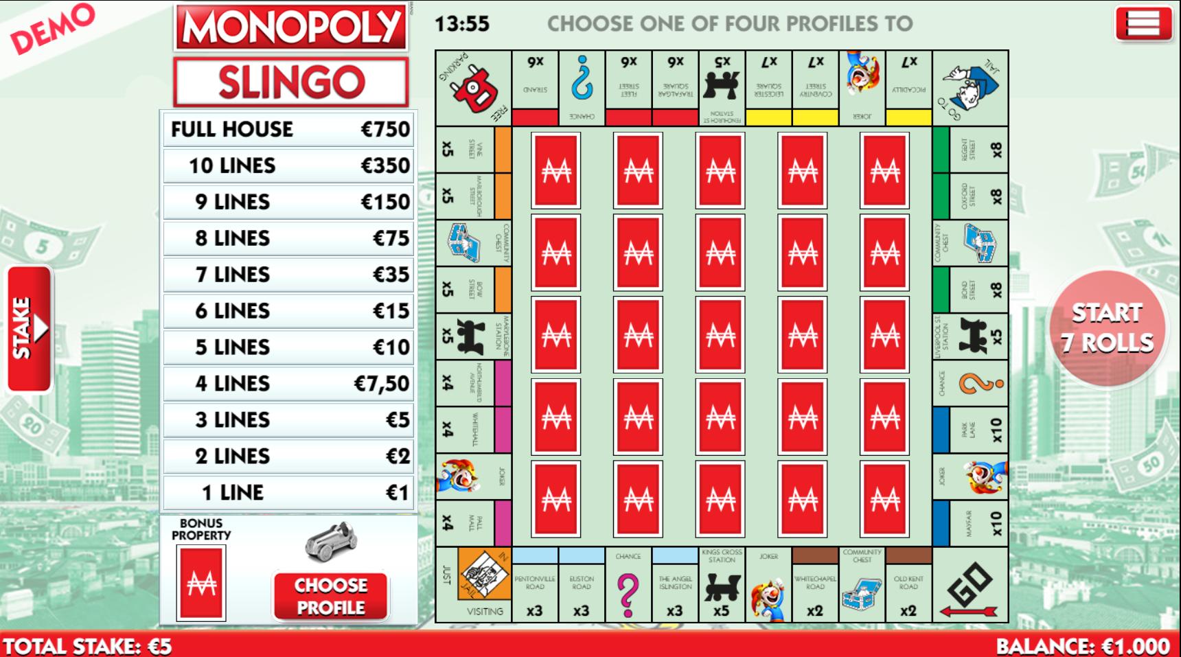 monopoli slingo