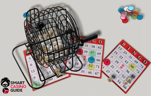Bingo strategy guide and bingo video with bingo cards and balls